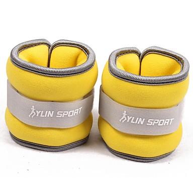 neopreen geel pols / enkel gewichten (0,5 kg paar) 1kg set gevuld met ijzer zand voor het uitvoeren van de oefening