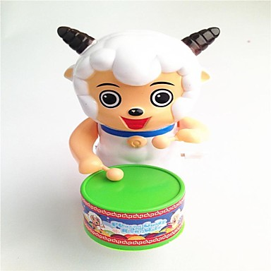 aangename geit uurwerk playing drums speelgoed