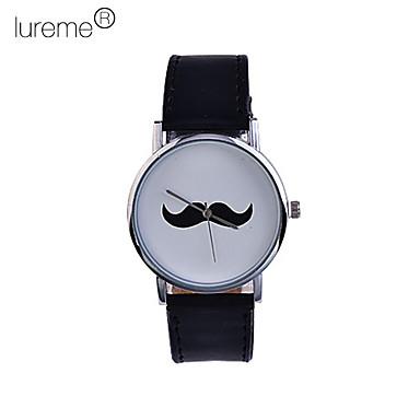 Hommes et Moustache Pattern PU quartz analogique montre-bracelet des femmes (couleurs assorties)