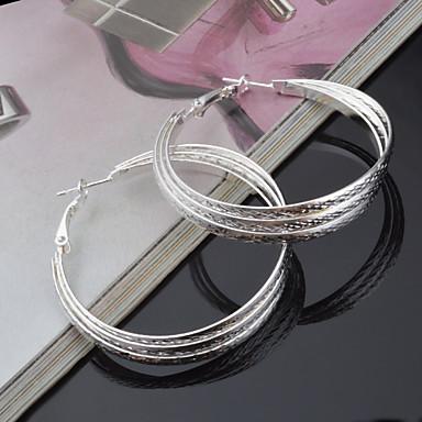 Ring oorbellen Titanium Staal Zilver Sieraden Voor Bruiloft Feest 2 stuks