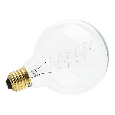 1pç 4W 200-260 lm E26/E27 Lâmpada Redonda LED 1 leds Branco Quente 2700-3500K AC 220-240V
