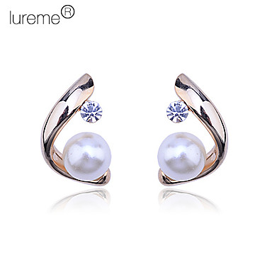 Women's Stud Earrings Pearl Crystal Alloy Jewelry Daily