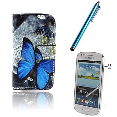 tok Για Samsung Galaxy Θήκη καρτών Πορτοφόλι με βάση στήριξης Ανοιγόμενη Με σχέδια Πλήρης Θήκη Πεταλούδα Σκληρή PU δέρμα για Trend Duos