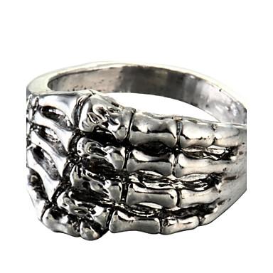 Heren Statement Ring - Titanium Staal Modieus 8 Zilver Voor Dagelijks
