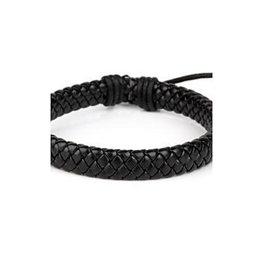 Damen Vintage Armbänder - Leder Klassisch, Grundlegend Armbänder Schwarz Für Weihnachts Geschenke Alltag Normal