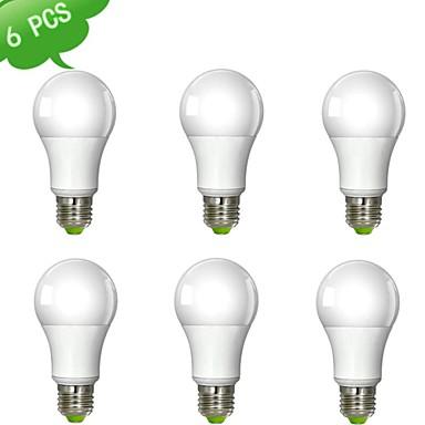 7W E26/E27 Lâmpada Redonda LED A60(A19) 1 leds COB Branco Quente Branco Frio 600-700lm 6000K AC 100-240V