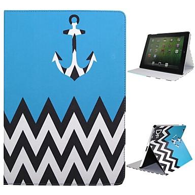 Pouzdro Uyumluluk iPad 4/3/2 Satandlı Oto Uyu / Uyan Tam Kaplama Kılıf Çizgiler / Dalgalar Tekstil için iPad 4/3/2
