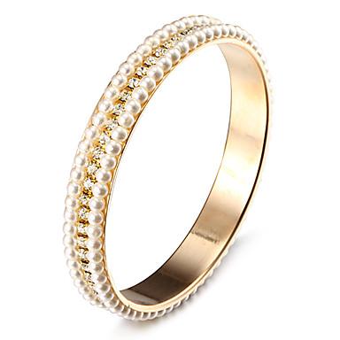 mode knipperen strass parel gouden legering armbanden (1 st)