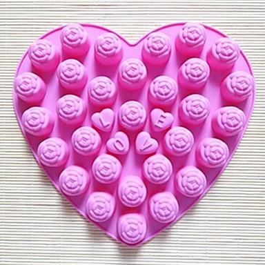30 holes steeg vorm cakevorm ijs gelei chocoladevorm, siliconen 25 × 23 × 2 cm (9,8 × 9,1 × 0,8 inch)