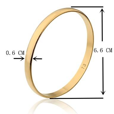 6,6 centímetros de largura ouro suave tb banhado a ouro pulseira tamanho m (1 peça)
