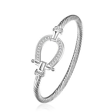 Női Elbűvölő karkötők Karperecek Réz Ezüstözött minimalista stílusú Lógó Ezüst Ékszerek 1db
