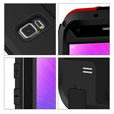 Недорогие Чехлы и кейсы для Galaxy Note 4-Кейс для Назначение SSamsung Galaxy Note 4 Водонепроницаемый / Защита от удара Чехол Сплошной цвет Металл