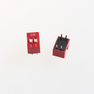 2p dip switch codeerschakelaar 2.54mm toonhoogte (10st)