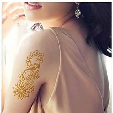 Tatoeagestickers Overige Schitteren Patroon Waterproof Dames Girl Volwassene Tiener Tijdelijke tatoeage Tijdelijke tatoeages