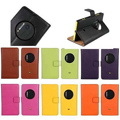 Hülle Für Nokia Lumia 1020 mit Halterung Ganzkörper-Gehäuse Solide Hart Echtleder für Nokia Lumia 1020