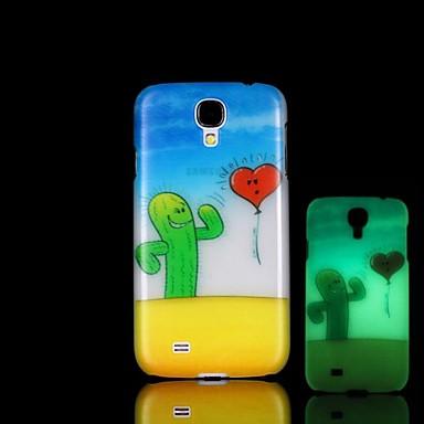 cactus patroon glow in the dark harde case voor Samsung Galaxy S4 Mini i9190