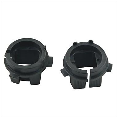 Araç h7 kia için Xenon ampul kafa dönüşüm adaptörleri yuva siyah sakladı - 2pcs
