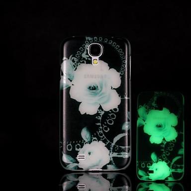 λουλούδι μοτίβο λάμψη στο σκοτάδι σκληρή θήκη για mini i9190 Samsung Galaxy S4