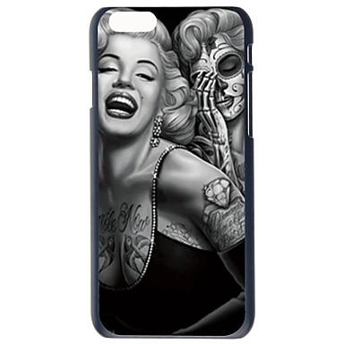 doopootoo ™ tattoo Marilyn Monroe geschilderd patroon slanke plastic hard terug het geval voor iphone 6 plus 5.5