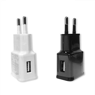 Carregador Fixo / Carregador Portátil Carregador USB Ficha EU 1 Porta USB 1 A para