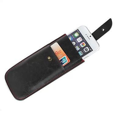 prémio pu puxão de couro da tampa do caso guia bolsa macia para iphone 6 mais