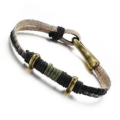 pulseira masculina de couro retorcido