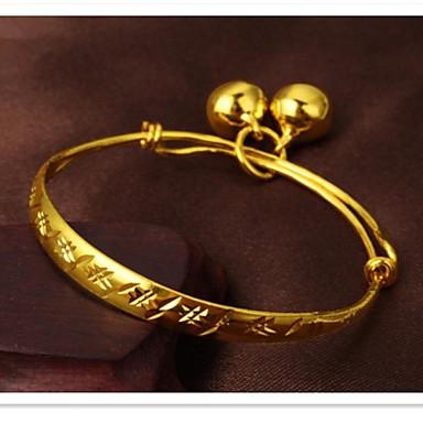 Mulheres Pulseira ID Fashion Cobre Chapeado Dourado 24K Plated Gold Jóias Diário Jóias de fantasia