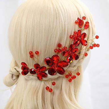 Vrouwen Bloemenmeisje Kristallen Licht Metaal Helm-Bruiloft Speciale gelegenheden Bloemen