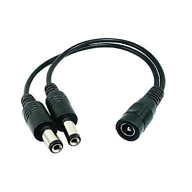 CCTV güvenlik kameraları için kadın 1 ila 2 ayırıcı kablo (DC 12v) dc 5.5 * 2.1mm erkek