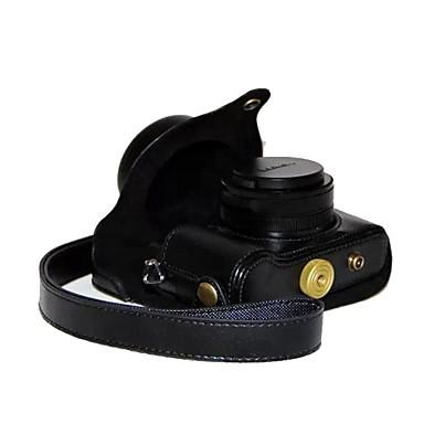 economico Custodie, borse e tracolle-dengpin retro dell'unità di elaborazione della fotocamera pelle litchi di struttura della copertura del sacchetto con tracolla per panasonic lumix