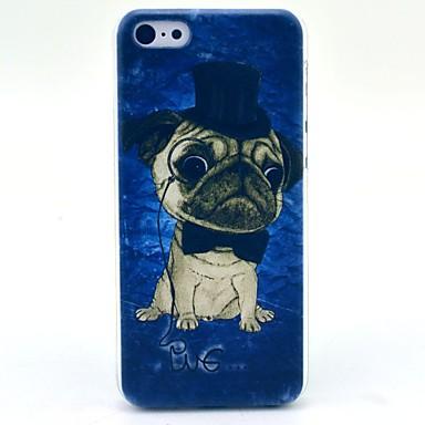 cap feliz caso capa dura padrão cão para iphone 5c