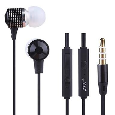 JTX-jl520 3,5 milímetros com cancelamento de ruído controle de volume do microfone fone de ouvido para iPhone e outros celulares