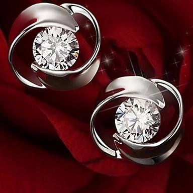 Europees Sterling zilver Strass imitatie Diamond Zilver Sieraden Voor Bruiloft Feest Dagelijks