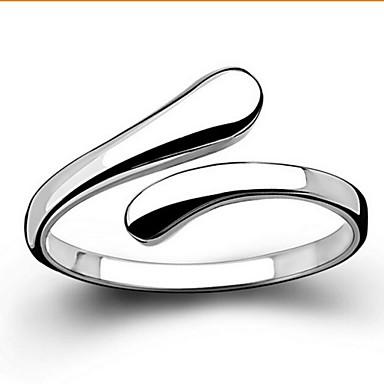 Dames Sterling zilver Statement Ring / Bandring - Sieraden Standaard / Liefde / Open Zilver Ring Voor Bruiloft / Feest / Lahja