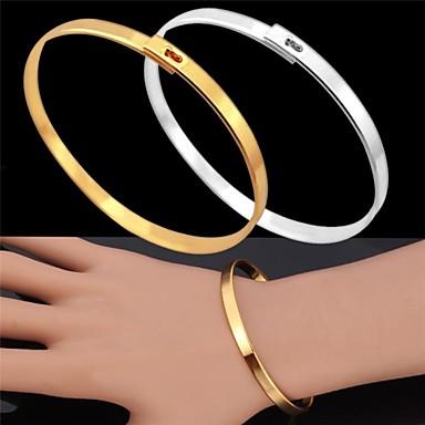 u7®vintage armband voor mannen 18k echt goud geplatineerd eenvoudige armband mode-sieraden voor mannen / vrouwen