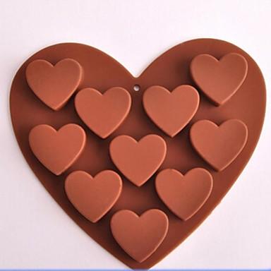 Bakeware araçları Silikon Çevre-dostu / Yapışmaz Kek / Kurabiye / Çikolota Pişirme Kalıp 1pc