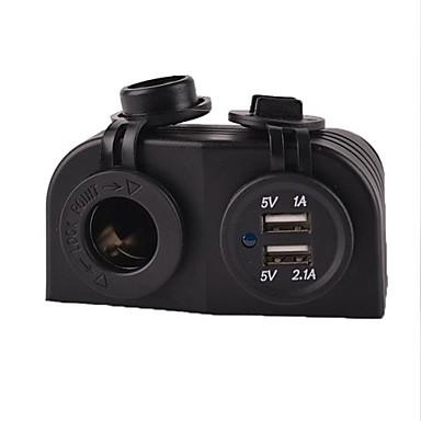 Tomada de potência do carro barco caravana 12 / 24v marinho + adaptador de energia USB carregador