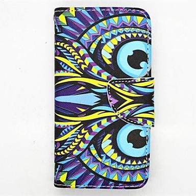 tok Για Samsung Galaxy Samsung Galaxy Θήκη Θήκη καρτών με βάση στήριξης Ανοιγόμενη Με σχέδια Πλήρης Θήκη Κουκουβάγια PU δέρμα για S4 Mini