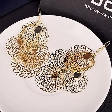 σκουλαρίκια μόδας πτώση πολυεπίπεδη κράμα (χρυσό, ασημί) (1 ζεύγος)