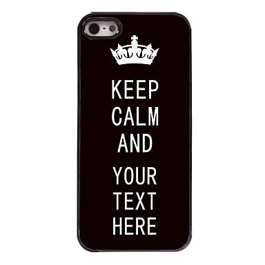 εξατομικευμένη περίπτωση μαύρο κρατήσει την ηρεμία περίπτωση μεταλλικό σχεδιασμό για το iphone 5 / 5s