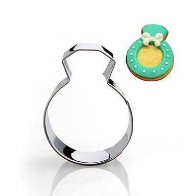 casamento anel de diamante cortador forma de biscoito, de aço inoxidável