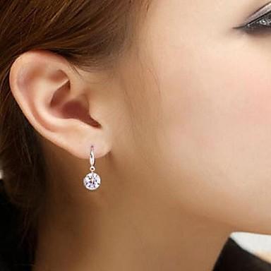 Europeu Prata de Lei Strass imitação de diamante Prata Jóias Para Casamento Festa Diário