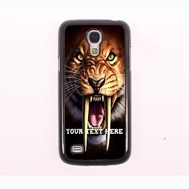 gepersonaliseerde telefoon case - tijger ontwerp metalen behuizing voor Samsung Galaxy S4