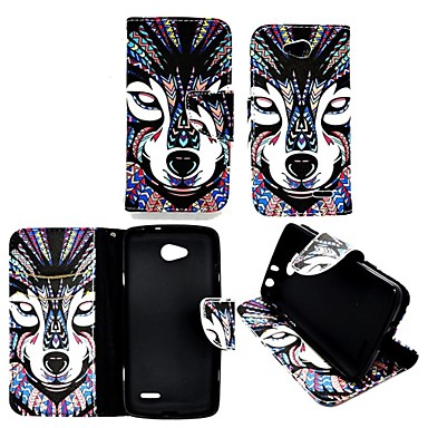Pouzdro Uyumluluk LG L90 LG L70 LG LG Kılıf Kart Tutucu Cüzdan Satandlı Flip Tam Kaplama Kılıf Hayvan Sert PU Deri için