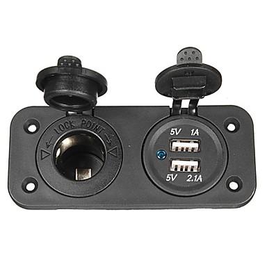 φορτιστή αυτοκινήτου προσαρμογέα πρίζα 12V USB για μοτοσικλέτα& αυτο