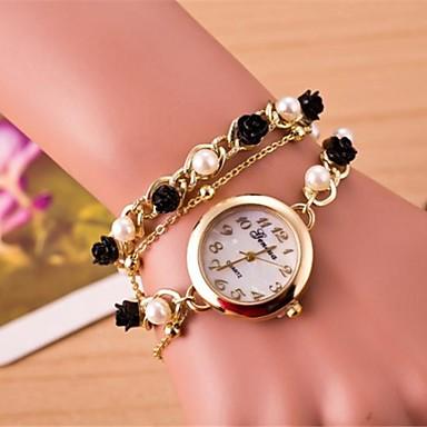 Bracele Relógio Relógio Casual Banda Flor