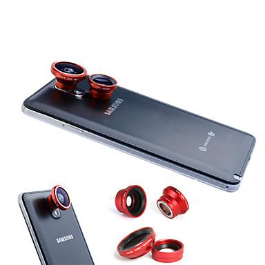 3-In-One Magnetic 180 ° Fish Eye Lens și Wide Angle cu 0.67X obiectiv macro pentru telefon Samsung Mobile