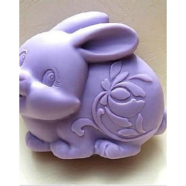 easter ferramentas fondant coelho bolo de chocolate bolo de silicone molde de decoração, l9.6cm * * w7.6cm h3.8cm