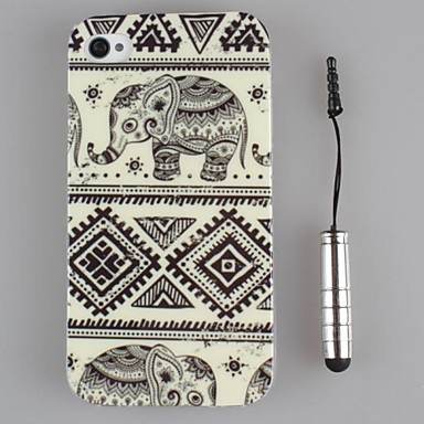 bela arte projeto TPU casca mole e caneta capacitância para iPhone 4 / 4S (cores sortidas)
