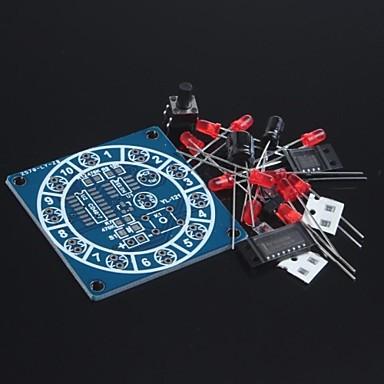 roda eletrônica do kit fortuna / divertidos kits eletrônicos / dados eletrônicos / produção eletrônica diy